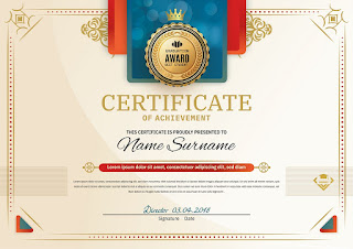Plantilla editable para crear certificados gratis