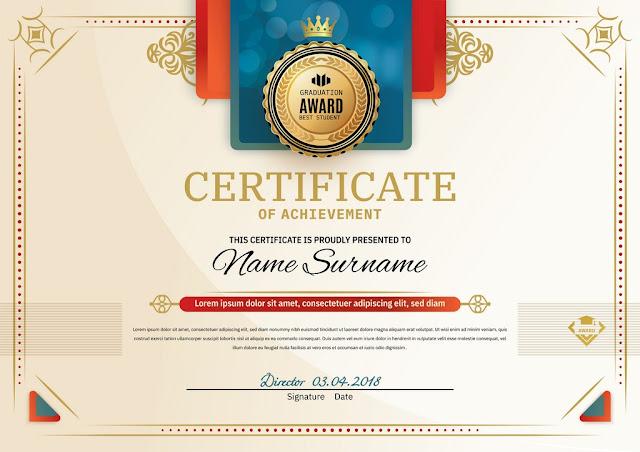 Plantilla en vector para crear certificados