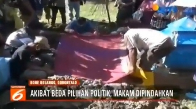 """ASTAGHFIRULLAH... Tak Ikut mendukung Caleg Dari NasDem, Dua Makam di Gorontalo """"Dibongkar"""""""