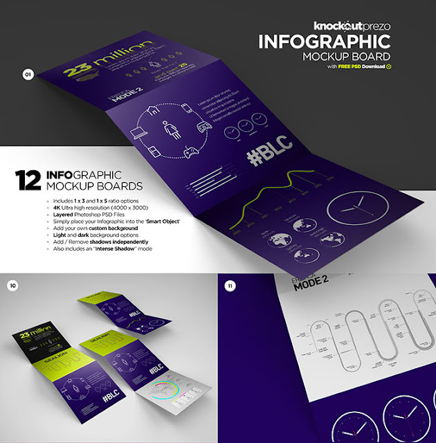 Free Infographic Mockup Board