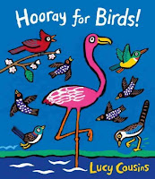 Hooray for Birds! book cover with illustrations of different birds