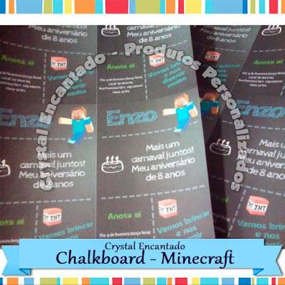 Convite Chalkboard Minecraft