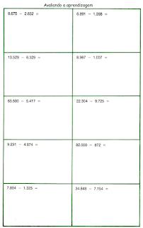 Subtração matemática