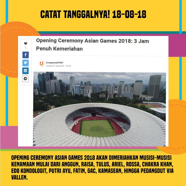 Keseruan dan Kebanggaan #AsianGames 2018
