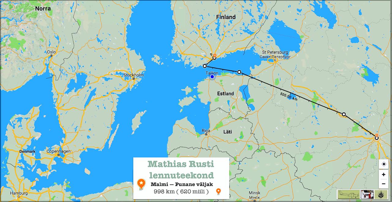 Helsinki Malmi — Moskva Krasnaja Ploščad' 28.5.1987