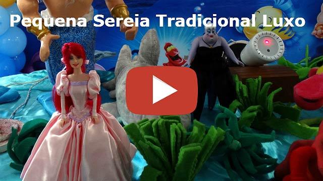 Vídeo tema Pequena Sereia Tradicional Luxo