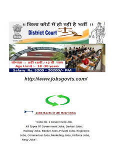 District Court, Chhattisgarh Recruitment & Vacancy 2017 for the post of Driver,Watchman,& various Post