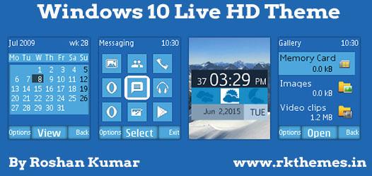 Windows 10 Live HD Theme For Nokia C1-01, C1-02, C2-00, 107