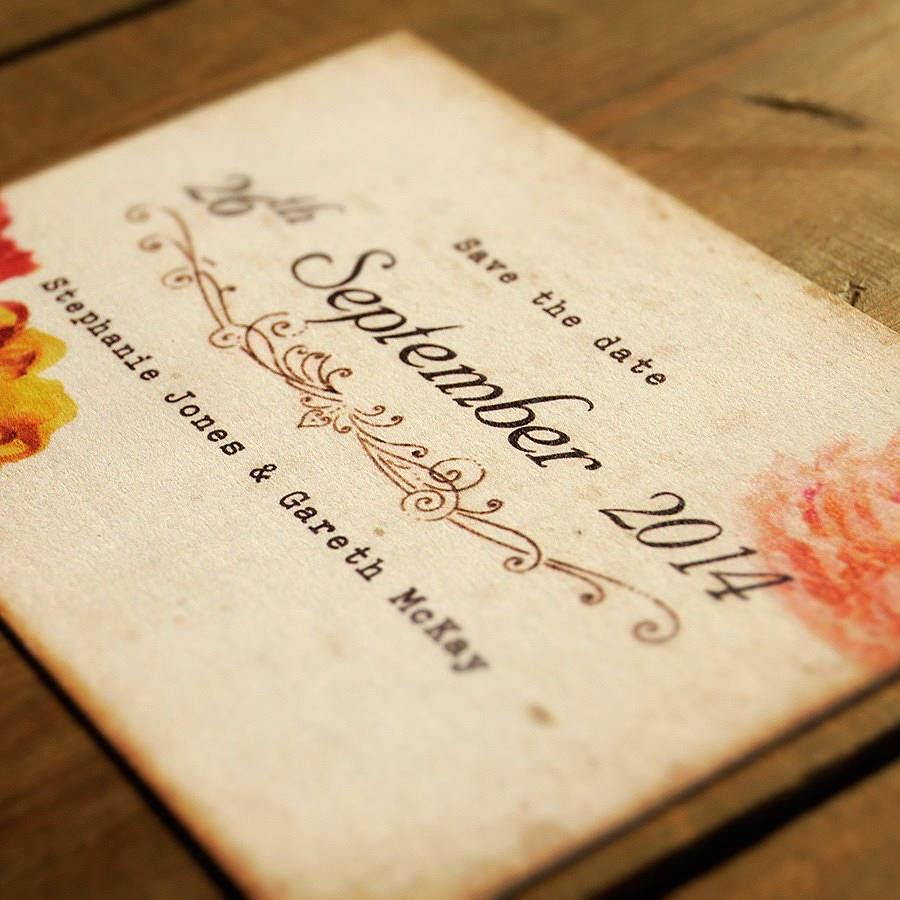 Thiệp cưới dạng Postcard lạ lẫm bắt mắt 3