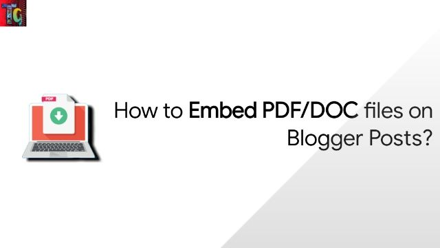 How to Embed PDF/DOC files on Blogger Posts?