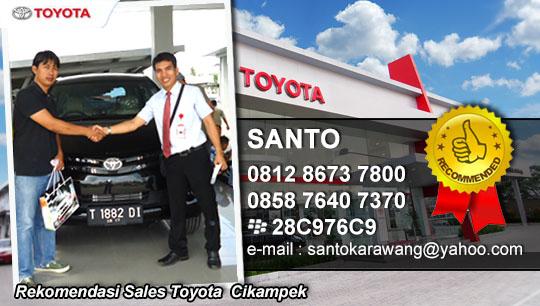 Rekomendasi Sales Toyota Wilayah Cikampek, Jawa Barat dan sekitarnya