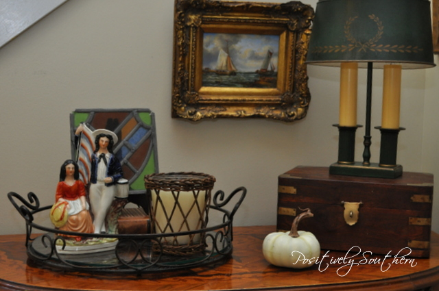 Fall Vignette in the Foyer