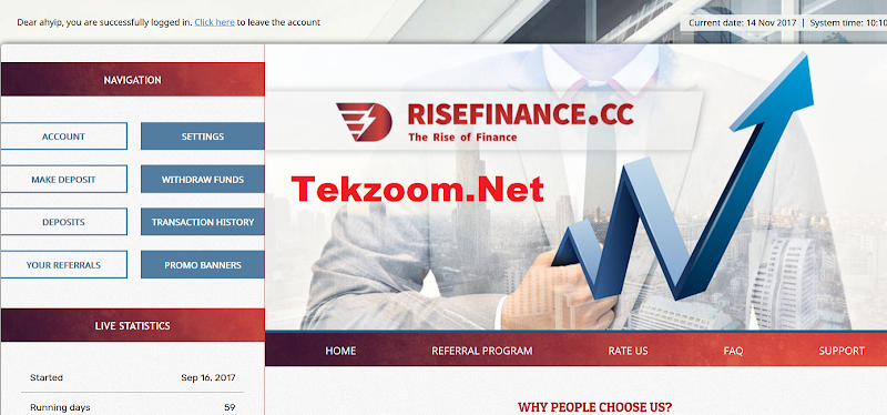 [SCAM] Review RiseFinance - Site đầu tư ngắn ngày - Đầu tư tối thiểu 20$ - Thanh toán Manual