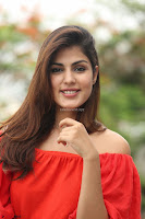 Rhea Chakraborty in Red Crop Top and Denim Shorts Spicy Pics ~  Exclusive 298.JPG