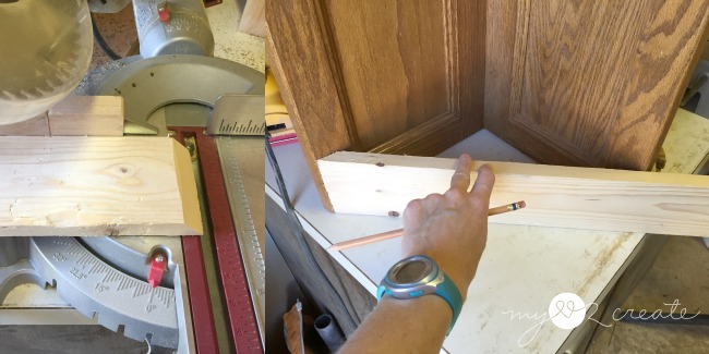 adding front faux drawer on corner planter