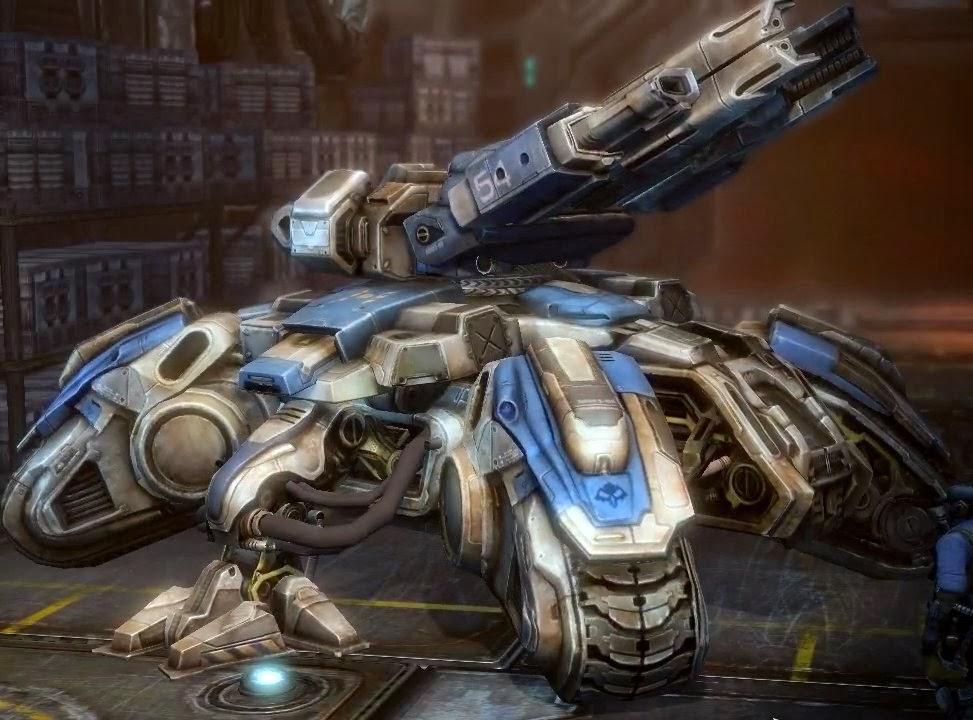 Rozstawiony Siege Tank, model Crucio.