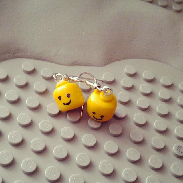 orecchini Lego in fimo