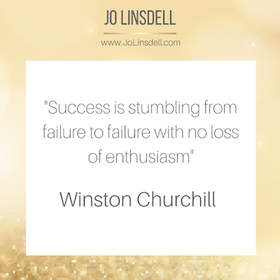 Success is stumbling from failure to failure with no loss of enthusiasm– Winston Churchill  #quote #QOTD