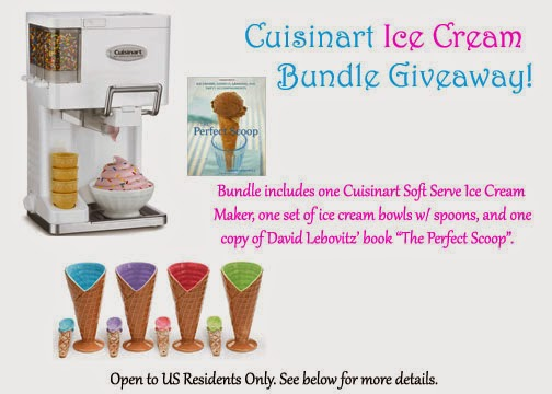 Cuisinart Ice Cream Bundle Giveaway