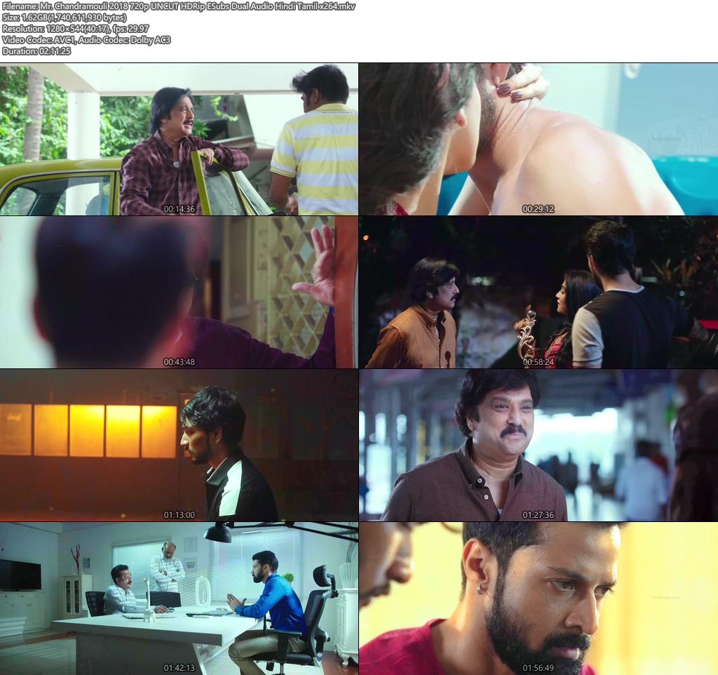 Mr. Chandramouli 2018 720p UNCUT HDRip ESubs Dual Audio Hindi Tamil   480p 300MB   100MB HEVC Screenshot