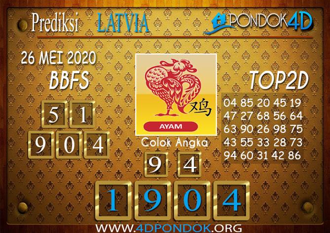 Prediksi Togel LATVIA POOLS PONDOK4D 26 MEI 2020