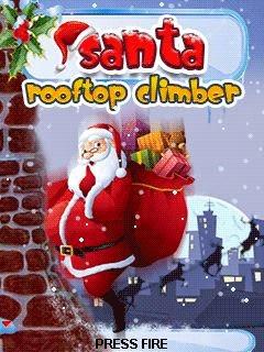 Santa Rooftop Climber
