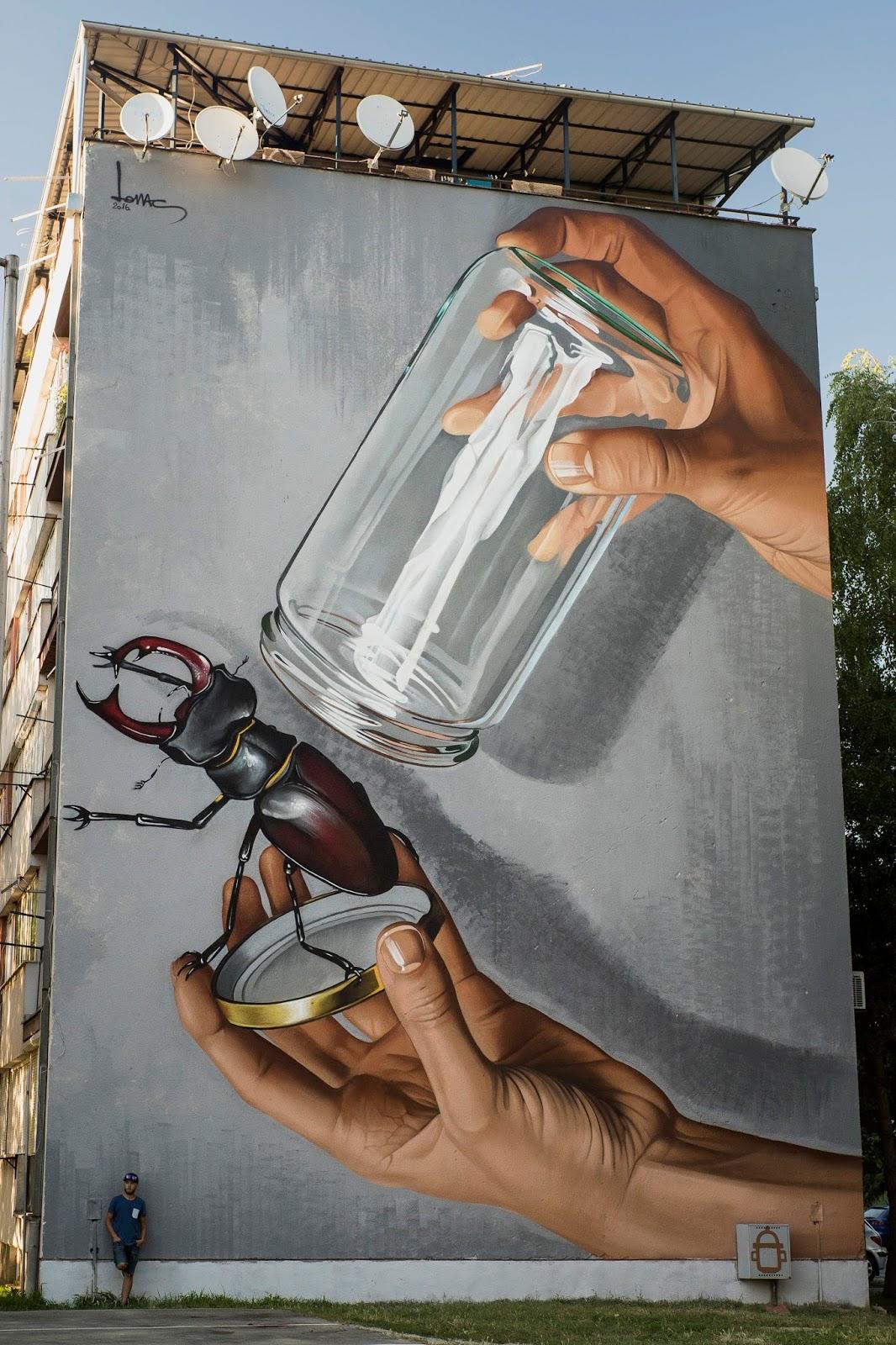Lonac photorealistic murals street art artpeople net for Mural meaning