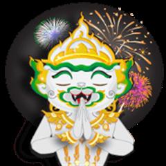 Sticker Hanuman Since From Thailand.