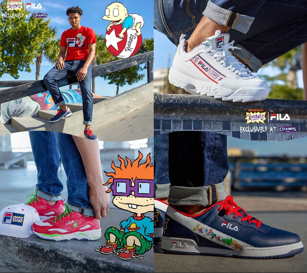 NickALive!: Champs Sports Launches Exclusive FILA x Rugrats ...