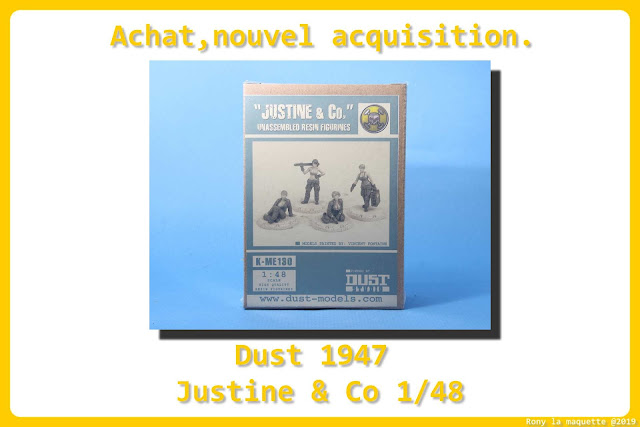 "Figurines ""Justine & Co"" du jeu Dust 1947 au 1/48."