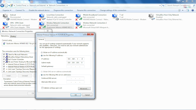 Setting Ip Adress Wireless Adhoc Client