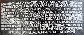 Humble Hand Wash ingredients