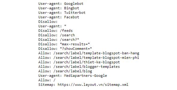 Tạo robots.txt blogspot chuẩn seo cập nhật thường xuyên