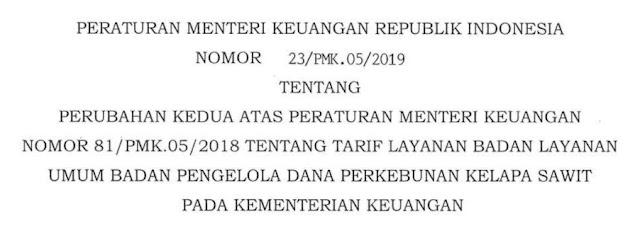 Peraturan Menteri Keuangan Nomor 23/PMK.05/2019