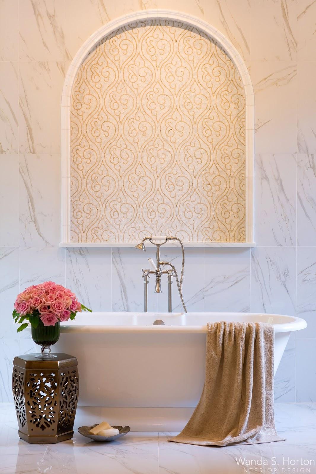 Soft, Elegant Design Details Made For A Beautiful Bath Escape For Our  Clients.