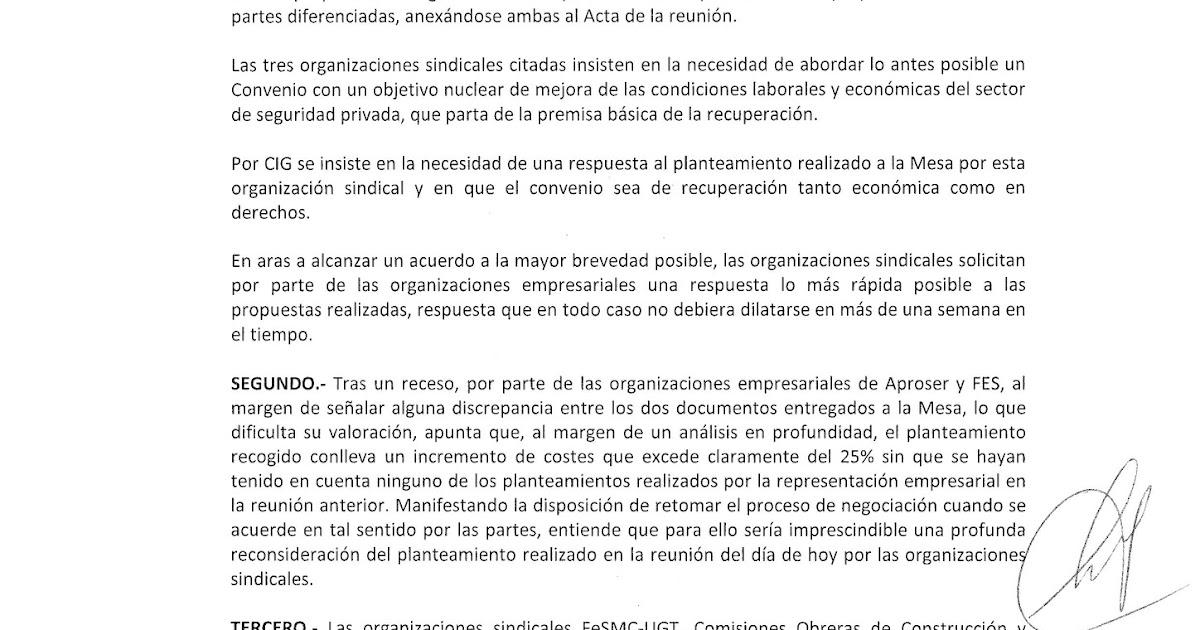 Ftsp uso las palmas acta 5 negociaci n convenio colectivo for Convenio oficinas y despachos estatal