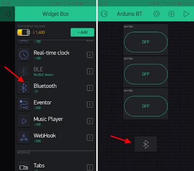 Blynk - Widget Bluetooth