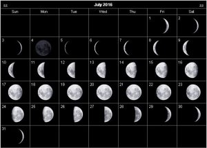 Moon Phases July 2016 Calendar, June 2016 Moon Phases Calendar, 2016 moon phases calendar, 2016 moon calendar