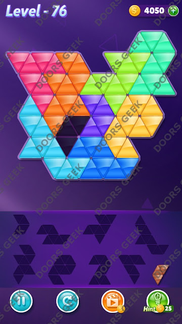 Block! Triangle Puzzle Proficient Level 76 Solution, Cheats, Walkthrough for Android, iPhone, iPad and iPod