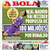 Portuguese media predict offer of 180 million euros for Cristiano Ronaldo