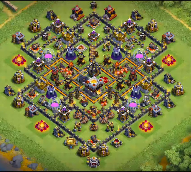 Good Town Hall 10 Layout