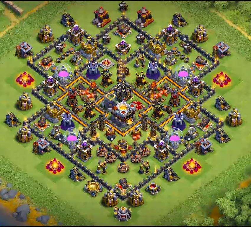 best th10 farming base in the world