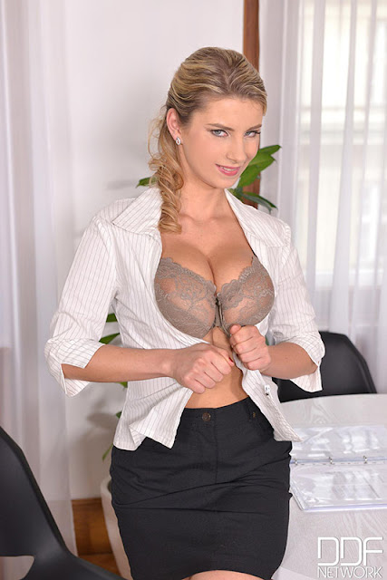 Katerina Hartlova aka Katarina - Big Natural Tits Fucked In Office (DDF Busty)