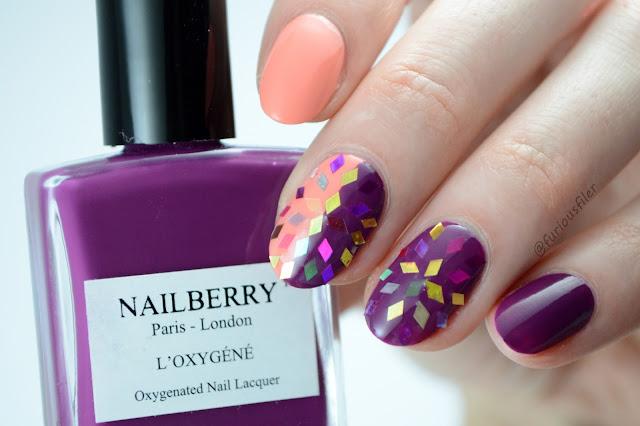 glitter diamond summer bright nail design furious filer