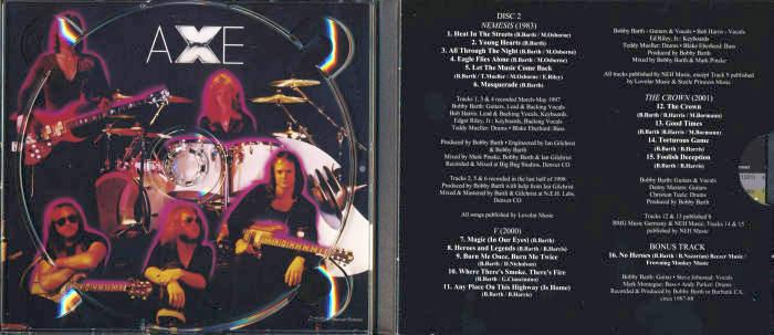 AXE - Axeology 1979-2001 - Remastered [Full 2-CD digipak] discs