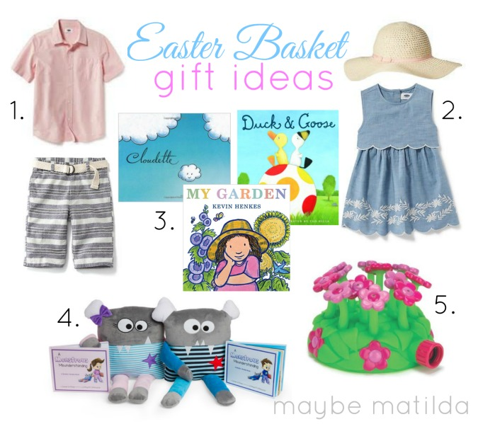 great springy ideas for non-candy gifts to tuck into kids' easter baskets