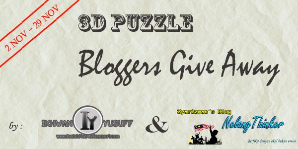 3D GIVEAWAY BY IY & SYARIZWAN