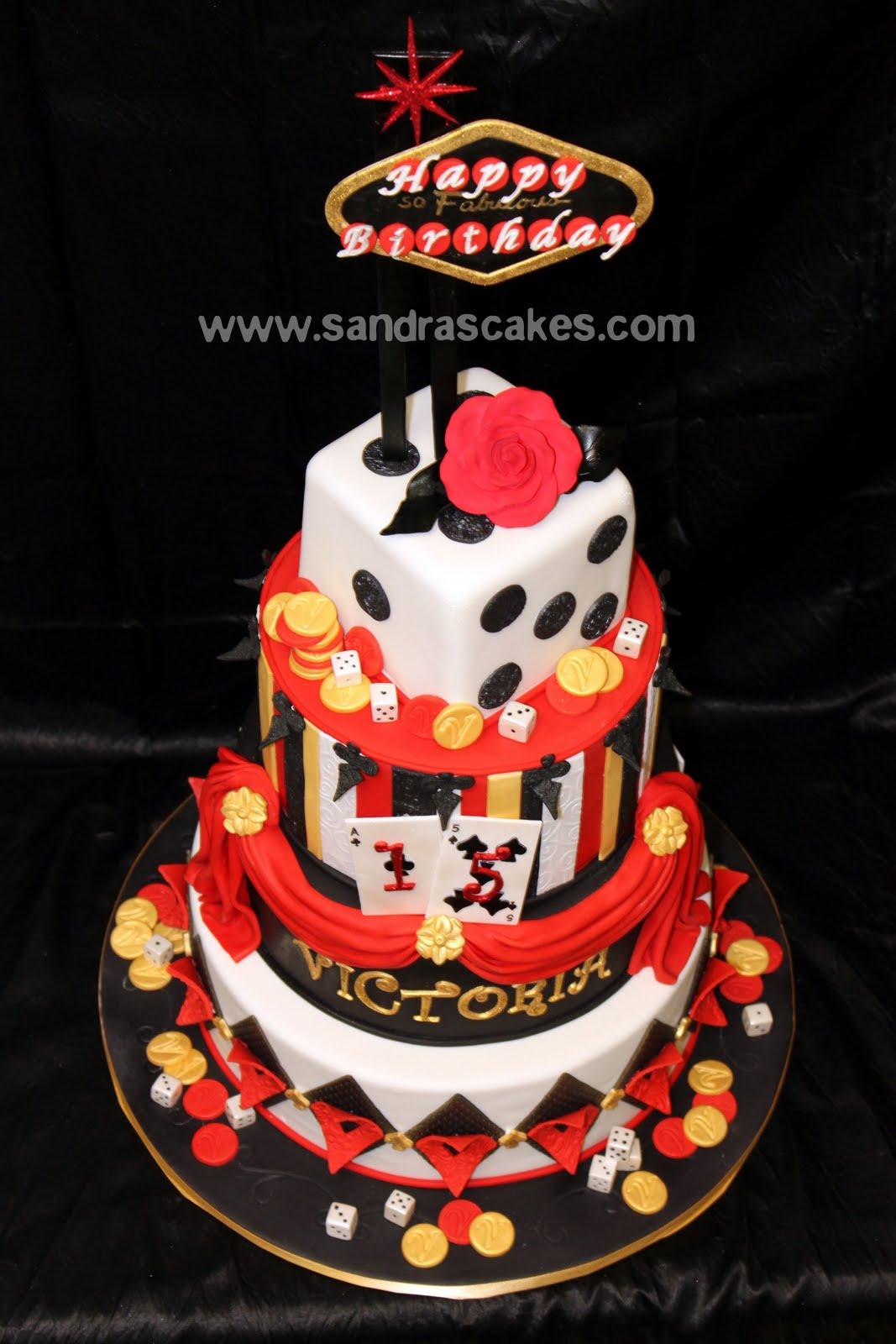 Fabulous Vegas Themed Quince Cake