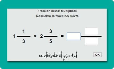 Multiplicación de fracciones mixtas.