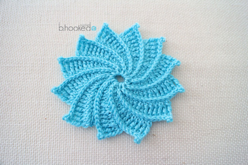 Ergahandmade Spiral Crochet Flower Free Pattern Video